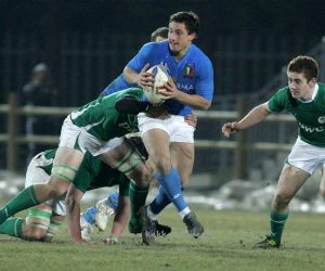 Augusto Cosulich playing Italy vs Ireland 6 nations U20